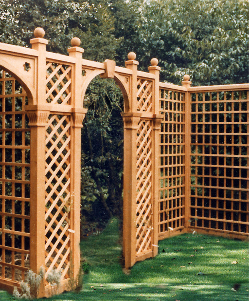 Garden Architecture London design & manufacture of trellis arches
